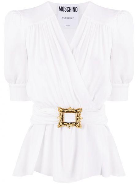 Bluzka kopertowa - biała Moschino