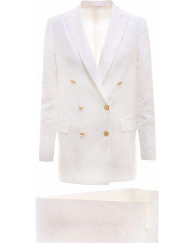 Złoty biały garnitur oversize Tagliatore