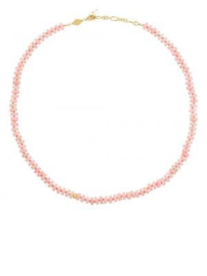 Naszyjnik łańcuch srebrny - różowy Anni Lu