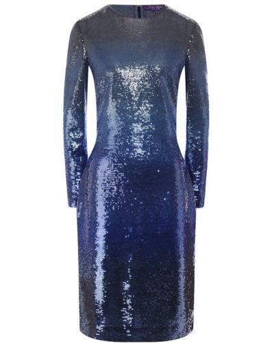 Платье с пайетками синее Ralph Lauren