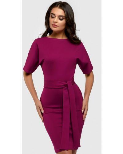 Повседневное платье бордовый весеннее 1001dress