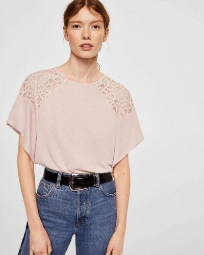 Розовая футболка Mango