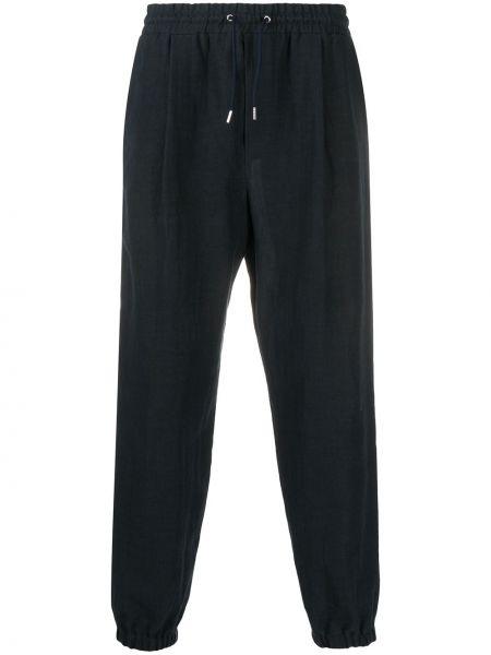 Lniane lniane spodnie - czarne Mcq Alexander Mcqueen
