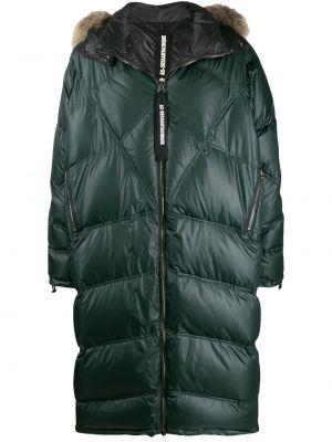 Zielony długi płaszcz z kapturem z długimi rękawami As65