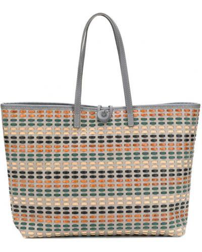Плетеная сумка с ручками круглая Carmina Campus