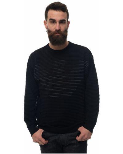 Czarny pulower bawełniany Emporio Armani