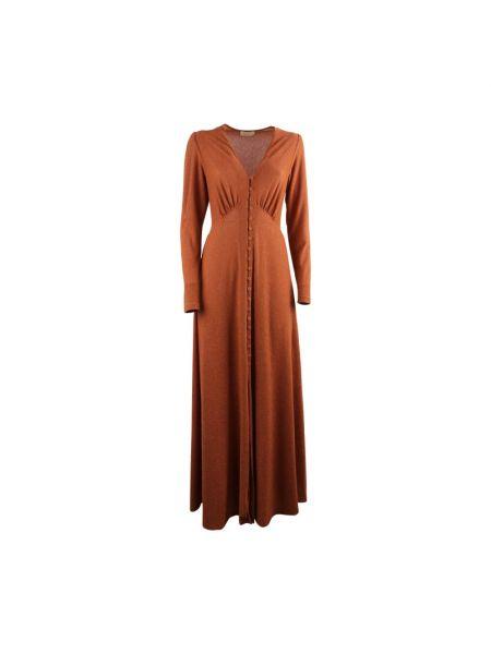 Pomarańczowa sukienka Momoni
