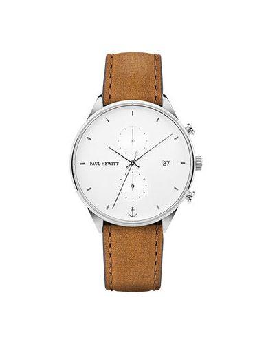 Часы водонепроницаемые с кожаным ремешком Paul Hewitt