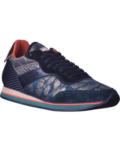 Синие замшевые кроссовки Etro