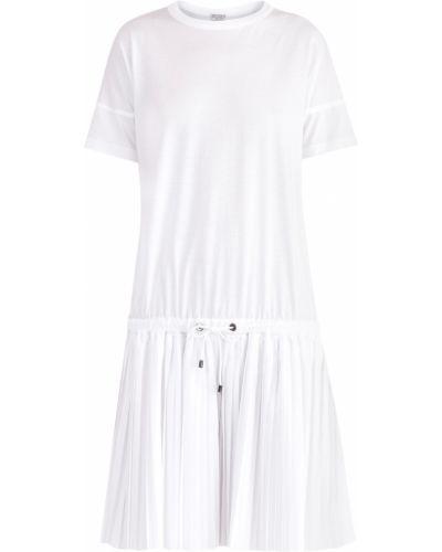 Платье в полоску трикотажное Brunello Cucinelli