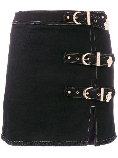 Юбка мини кожаная джинсовая Versace Jeans Couture
