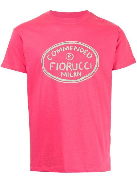 Футболка с принтом - розовая Fiorucci