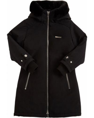 Куртка из искусственного меха с капюшоном с манжетами Givenchy