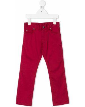 Spodnie skorzane z paskiem Baby Dior