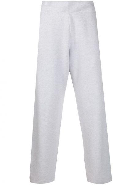 Серые кашемировые свободные брюки свободного кроя с поясом Barrie