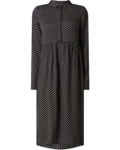 Sukienka rozkloszowana w grochy - czarna Vero Moda