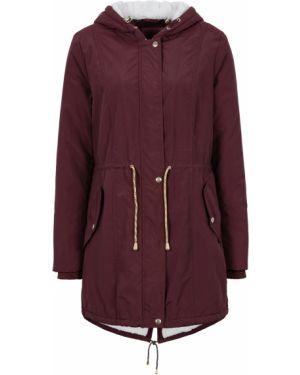 Куртка с капюшоном плюшевая с карманами Bonprix
