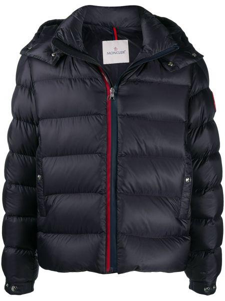 Пуховая черная зимняя куртка с перьями с длинными рукавами Moncler