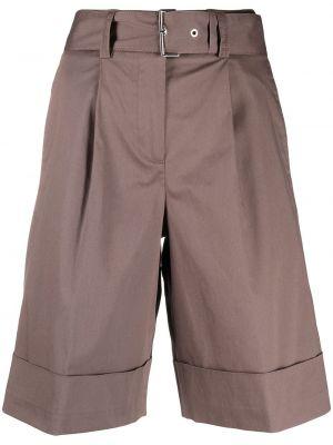 Хлопковые шорты с отворотом с поясом Peserico