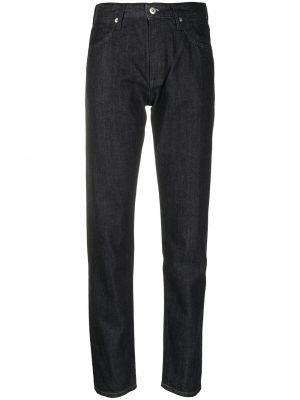 Klasyczne czarne jeansy z wysokim stanem Jil Sander
