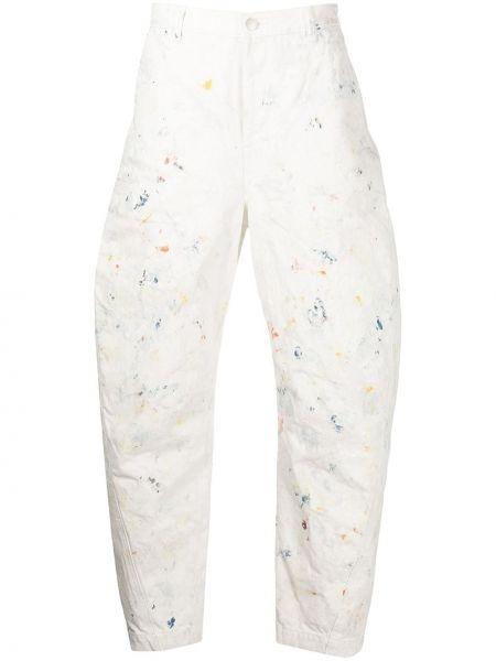 Spodnie bawełniane - białe John Elliott