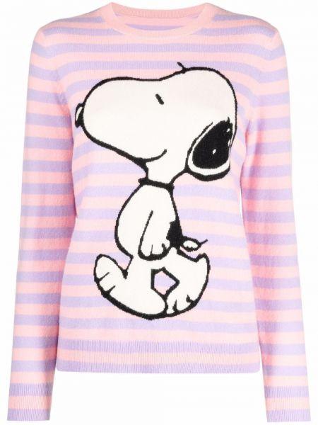 Розовый кашемировый вязаный длинный свитер Chinti And Parker