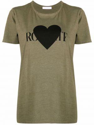 T-shirt krótki rękaw bawełniany z printem Rodarte