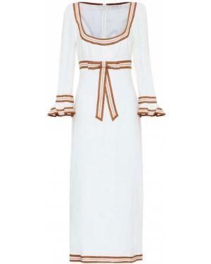Платье миди винтажная на тонких бретелях Zimmermann