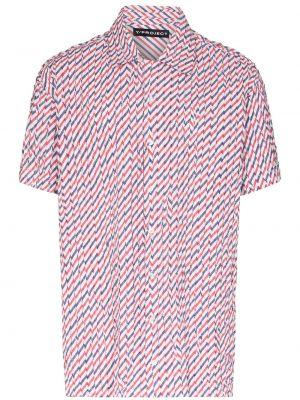 Koszula krótkie z krótkim rękawem długa z kołnierzem Y/project