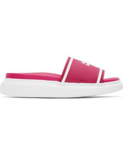 Różowe sandały w paski Alexander Mcqueen