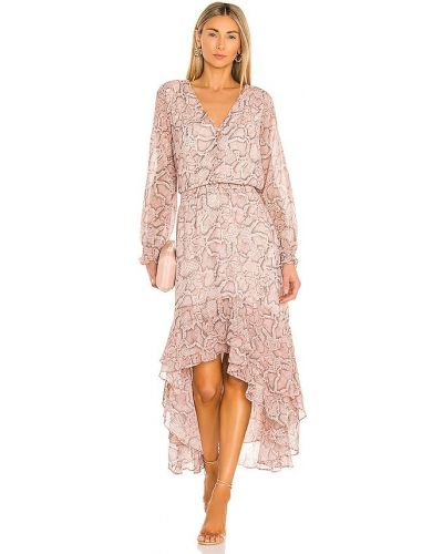 Шифоновое розовое платье с подкладкой 1. State