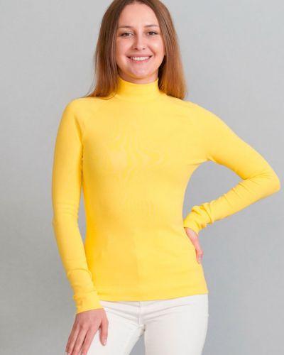 Желтая трикотажная водолазка Promin