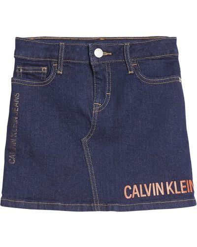 Niebieska spódnica jeansowa Calvin Klein
