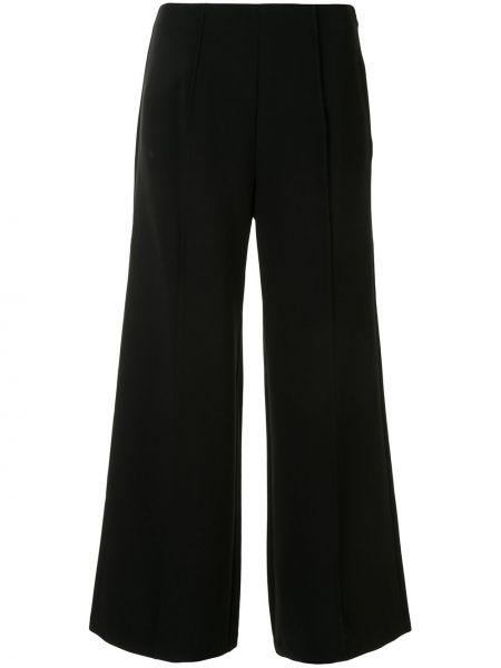 Черные расклешенные укороченные брюки с высокой посадкой Cinq À Sept