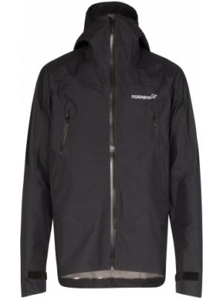 Спортивная черная облегченная куртка с капюшоном на молнии Norrona