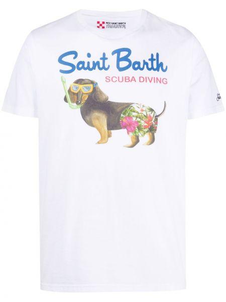 Koszula krótkie z krótkim rękawem z logo prosto Mc2 Saint Barth
