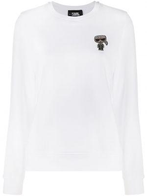 Толстовка с вышивкой - белая Karl Lagerfeld