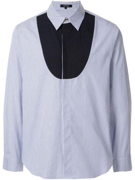 Niebieska klasyczna koszula bawełniana w paski Loveless