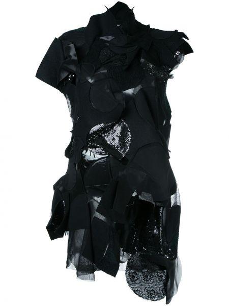 Ажурное платье мини из фатина винтажное с воротником Junya Watanabe Comme Des Garçons Pre-owned