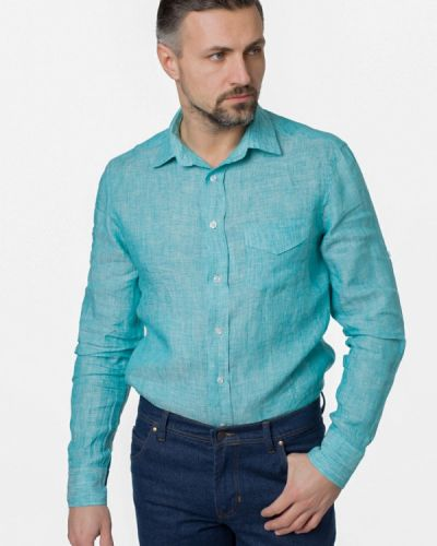 Бирюзовая рубашка Arber