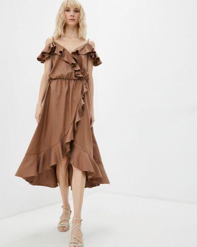 Платье с запахом - коричневое Gk Moscow