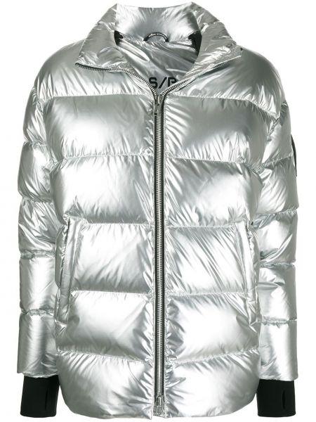 Стеганое длинное пальто с воротником на молнии Moose Knuckles