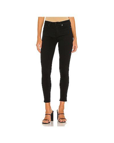 Хлопковые черные джинсы-скинни на молнии скинни Paige