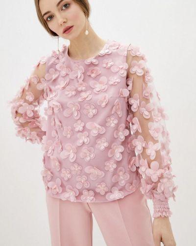 Розовая с рукавами блузка Zubrytskaya