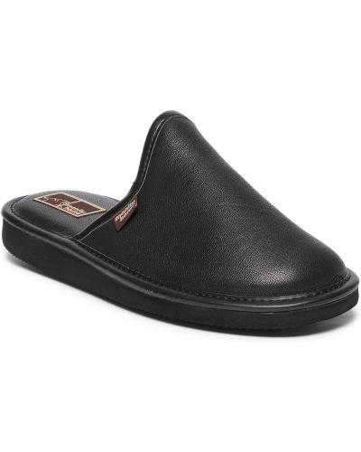 Sandały skórzane - czarne Manitu