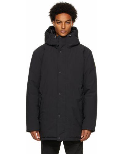 Черное длинное пальто Kanuk