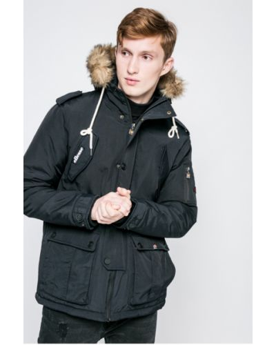 Утепленная куртка с капюшоном на кнопках Ellesse