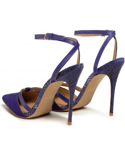 Босоножки на каблуке - фиолетовые Eva Longoria