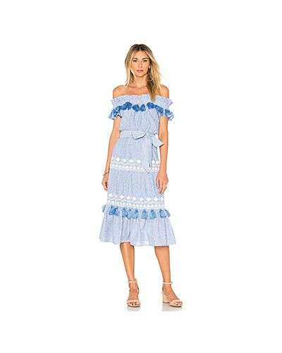 Платье с поясом с вышивкой с бахромой Tularosa
