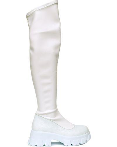 Белые ботфорты Osso